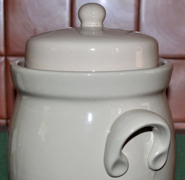 Lid and Handle Detail of Rumtopf Pots