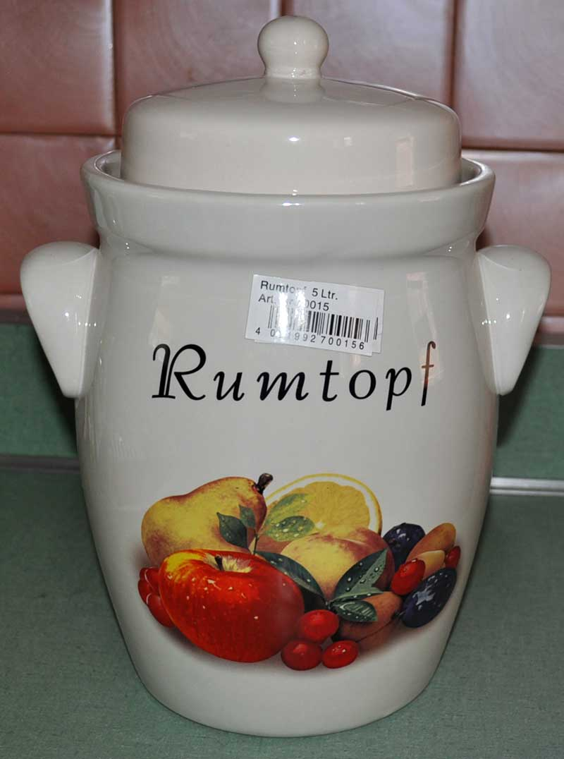 Rumtopf Pot from Germany With Fruit Motif